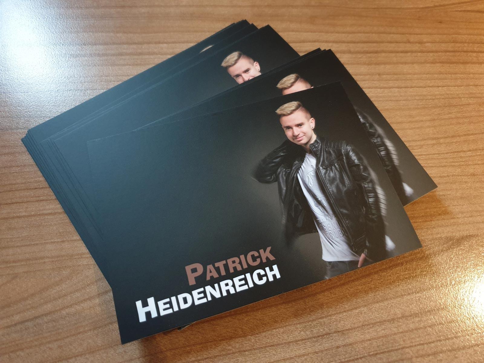 patrick heidenreich autogrammkarten