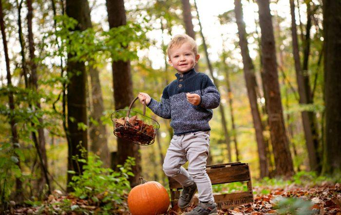 herbstliches outdoorfotoshooting im wald