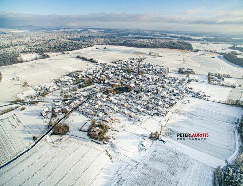 Drohnenaufnahmen vom verschneiten Speckswinkel